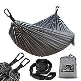 NATUREFUN Ultraleichte Reise Camping Hängematte   300kg Tragkraft,Atmungsaktiv, Schnelltrocknendes Fallschirm Nylon  Für Draußen Drinnen Garten