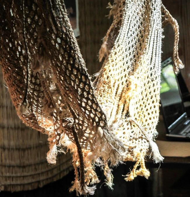 Eine Netzhängematte