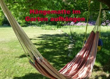 Hängematte im Garten aufhängen